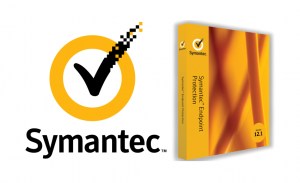 symantec endpoint protection image of software packaging and symantec logo