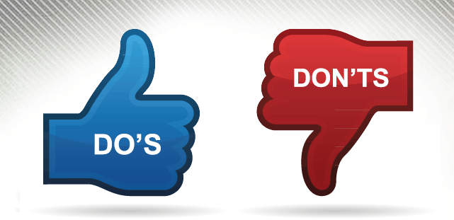 a dos and donts image